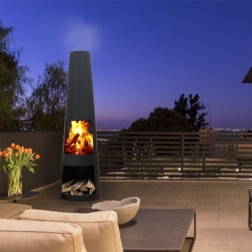 Black Steel Outdoor Fireplaces