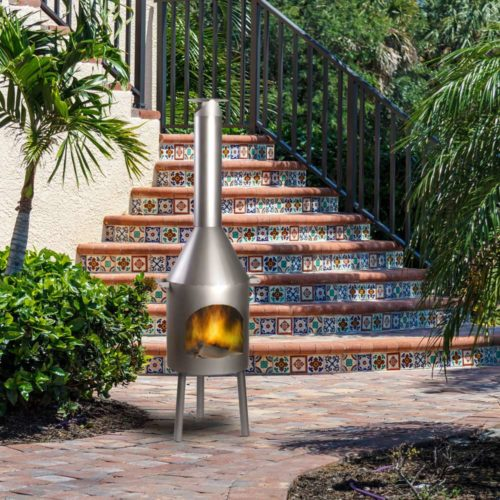Stainless Outdoor Fireplaces